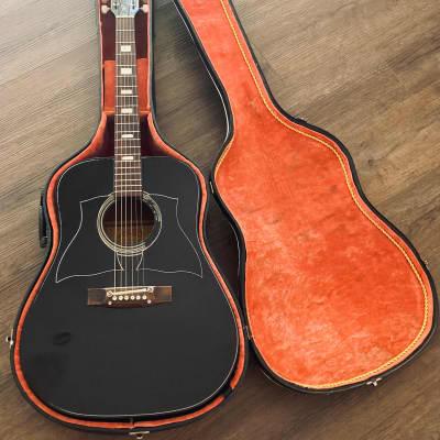 Vintage Avon Pasdena Black Acoustic Guitar by Rose Morris for sale