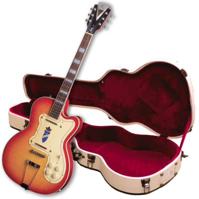 Kay Reissue Barely Used -Jimmy Reed Thin Twin Electric Guitar FREE $200 Case K161VCS-Cherry Sunburst for sale