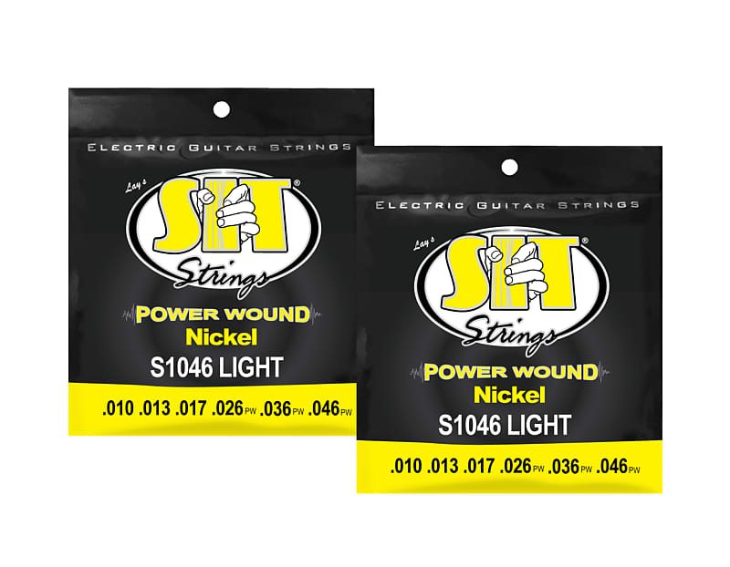 Light SIT Strings S1046 Power Wound Electric Guitar Strings 10-46