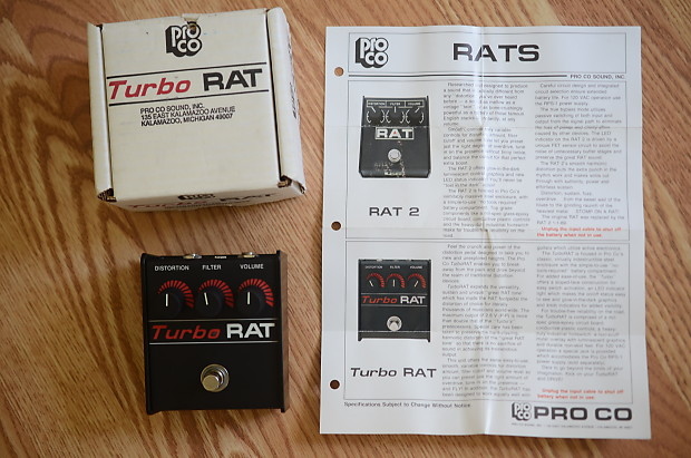 dating turbo rat Proco rat 1985-86 blackface one owner very good jimi jams  independence, ky, united states 9 ratings $293 + $12 shipping watch  watching.
