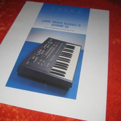 Elka One Man Band 5 OMB 5 Digital Accompaniment Unit Brochure 1990's
