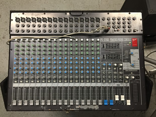 Fender Px 22160 16ch Mixing Console Px 2200 600w Power Amp