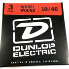 Dunlop Guitar Strings - 3 Pack - Electric - 10-46 - Nickel Plated Steel - Medium image
