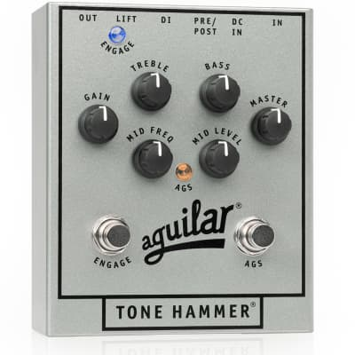 Aguilar 25th Silver Anniversary Edition Tone Hammer Preamp Bass Effects Pedal