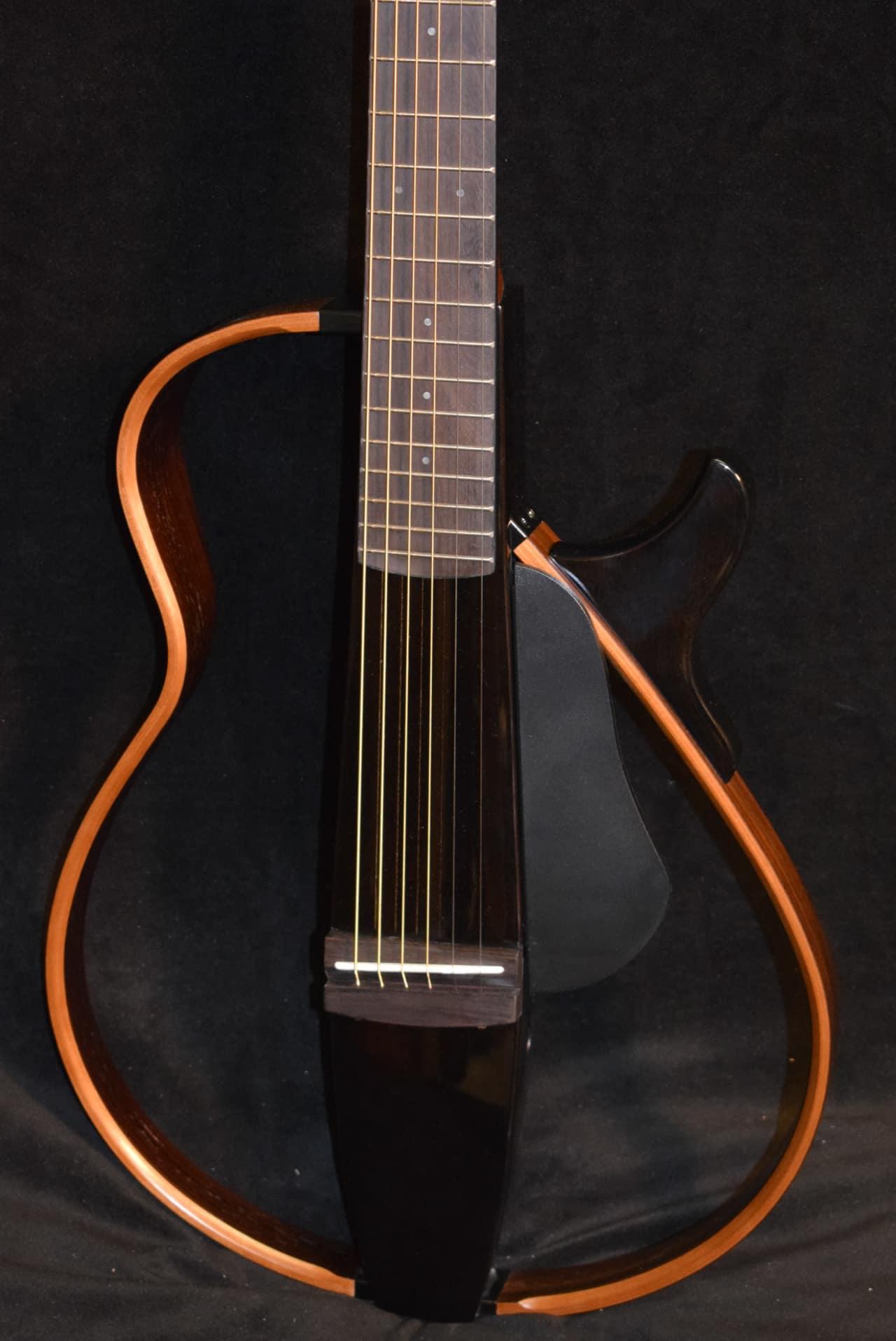 Yamaha slg200s tbl steel string silent guitar trans black for Yamaha slg200s steel string silent guitar