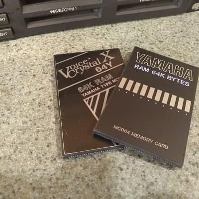 2 Yamaha MCD64  Ram Cards