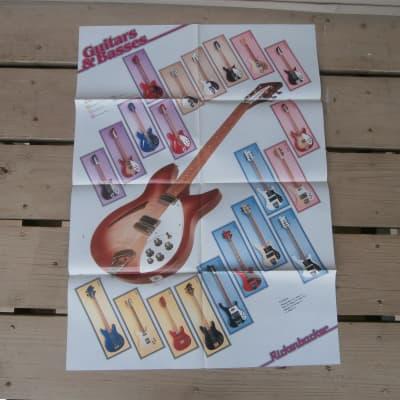 Vintage 1986 Rickenbacker Fold Out Poster Catalog! Rare, Original Case Candy!