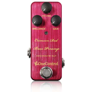 One Control Crimson Red Bass Preamp Effects Pedal for sale