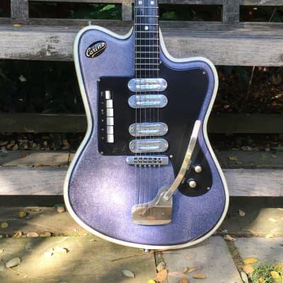 Crucianelli Carino 40V 1964 Purple Glitter guitar for sale