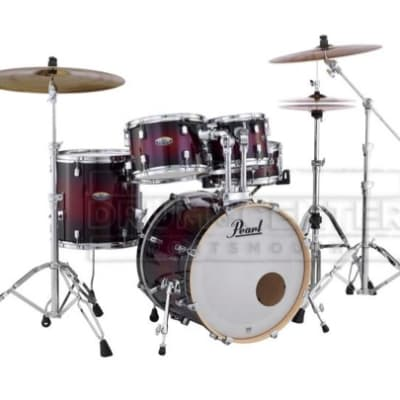 Pearl Decade Maple 5pc Fusion Drum Set Deep Red Burst