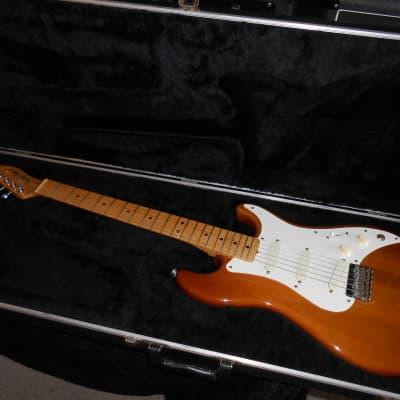 Fender USA Bullet S-3 1982 Trans-Walnut w/ molded ohsc for sale
