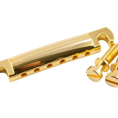 Kluson USA Made Lightweight Stop Aluminum Tailpiece, Gold KLP-1142G for sale