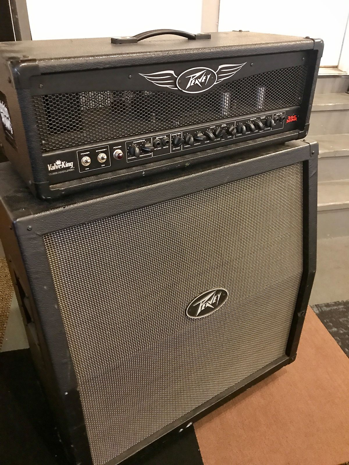 peavey valveking vk100 100 watt 4x12 guitar half stack reverb. Black Bedroom Furniture Sets. Home Design Ideas