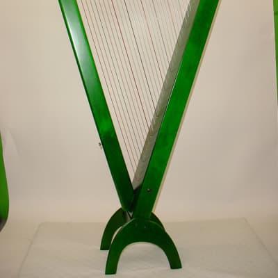 Rees Harps Grand Harpsicle Harp, 33 Strings  Green Stain Finish