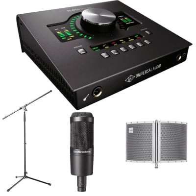 Universal Audio Apollo Twin MKII QUAD  + Marantz Folding Filter and Microphone Stand.