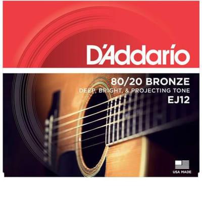 D'Addario EJ12 Medium 80/20 Bronze Acoustic Guitar Strings - .013-.056
