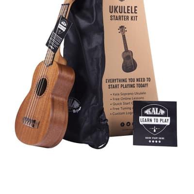 Kala Model LTP-S Soprano Size Mahogany Ukulele Pack with Tuner, Bag, App for sale