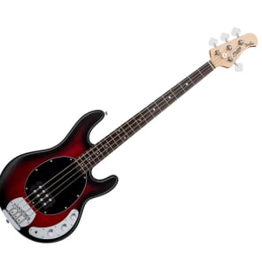 Sterling by Music Man RAY4-RRBS-R1 StingRay in Ruby Red Burst Satin for sale