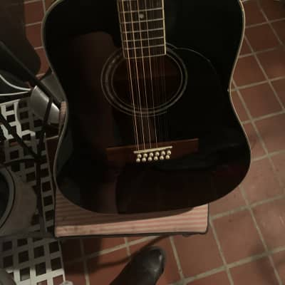 Mitchell Black 12 string Electric/Acoustic for sale