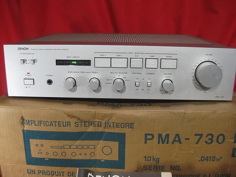 Vintage Denon PMA-730 Stereo Integrated Amplifier w/Original box