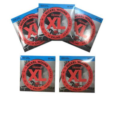 D'Addario Guitar Strings 5-Pack Electric  EXL145 Medium Top/Heavy Bottom 12-54