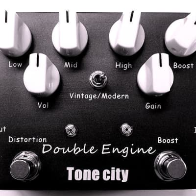 Tone City Double Engine T40 Rectified High Energy Distortion (Wampler Style) Hand Made True Bypass
