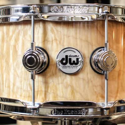 DW Collector's Natural Super Curly Maple 10ply VLT 5.6x14 Snare (video demo)