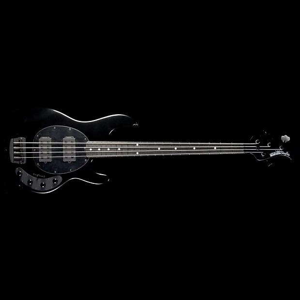 ernie ball music man stingray hh electric bass stealth black reverb. Black Bedroom Furniture Sets. Home Design Ideas