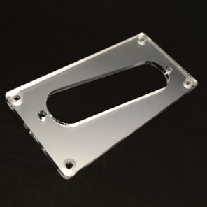 Guitar Parts CONVERSION PICKUP MOUNTING RING Humbucker Single Coil - SLANT CHROME MIRROR
