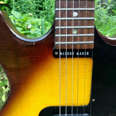 Gibson Melody Maker 1964 sunburst full scale wide neck case