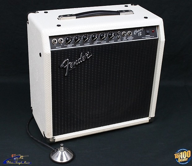 2007 fender champ 12 combo guitar amp white snakeskin reverb. Black Bedroom Furniture Sets. Home Design Ideas