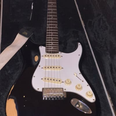 JB player Stratocaster  vintage black relic for sale