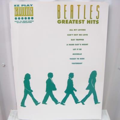 The Beatles Greatest Hits EZ Play Guitar Sheet Music Song Book Tab Tablature
