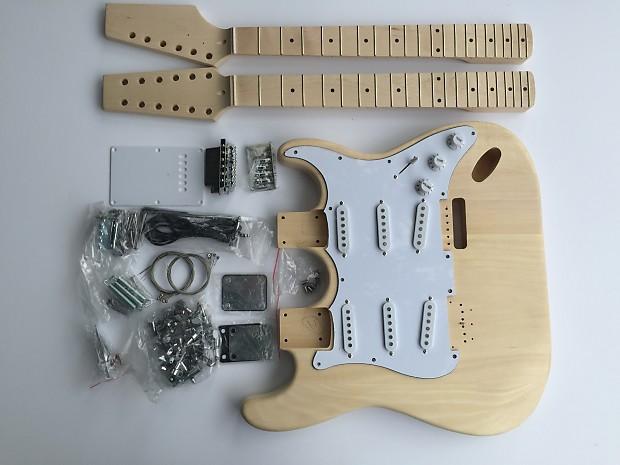 diy electric guitar kit double neck 6 string 12 string reverb. Black Bedroom Furniture Sets. Home Design Ideas