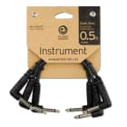 3-pack! Planet Waves Classic Series Right-Angle Patch Cable (6 Inches) image