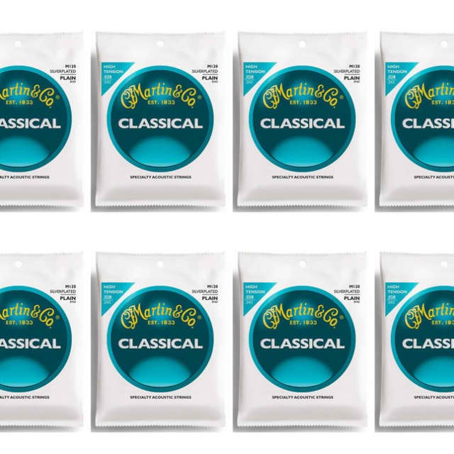Martin M120 Silverplated Classical Guitar Strings, High Tension 12 Sets image