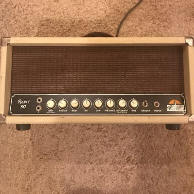Sundown Rebel 50 1985 Cream Tolex for sale