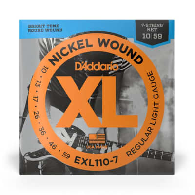 D'Addario EXL110-7 Nickel Wound Electric Strings, 10-59