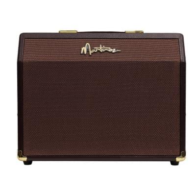 Martinez Retro-Style 25 Watt Acoustic Guitar Amplifier with Reverb (Brown Vinyl) for sale
