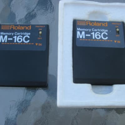 Two Roland M-16C Memory Cartridge for GR-700,  JX-3P, JX-8P, JX-10