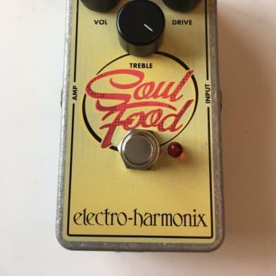 Electro Harmonix Soul Food Overdrive Distortion Fuzz Guitar Effect Pedal