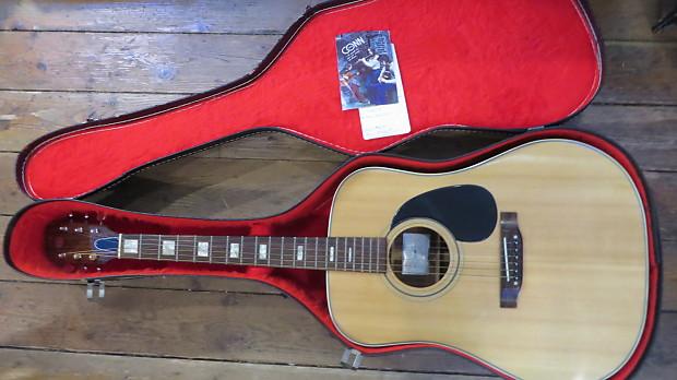 vintage conn fr 25 acoustic guitar w original case and reverb. Black Bedroom Furniture Sets. Home Design Ideas
