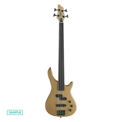 Stagg BC300FL Fretless  Natural 4-String Fusion Electric Bass Guitar for sale
