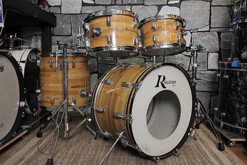 rogers vintage 1970 39 s butcher block drum set reverb. Black Bedroom Furniture Sets. Home Design Ideas