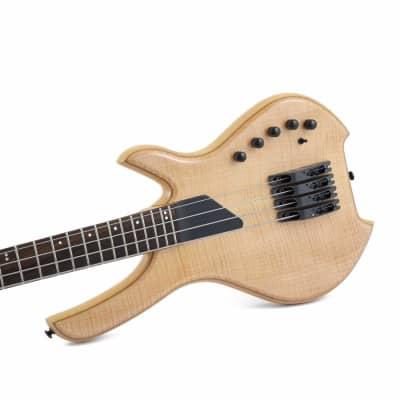 Lightwave Saber 4 String Bass, Optical, Trans Natural Flame top SVL4F-STN NEW for sale