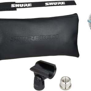 Shure BETA 58A Supercardioid Dynamic Microphone with High Output Neodymium Element for Vocal/Inst