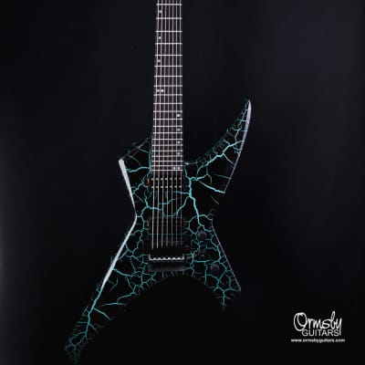 Ormsby B-Stock # 4773 Metal X 7 string 2021 Blue / Black Crackle