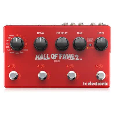 Tc Electronic Hall Of Fame 2 X4 Riverbero A Pedale Per Chitarra True Bypass Tecnologia Mash + 6 Slot Toneprint Midi   Usb for sale