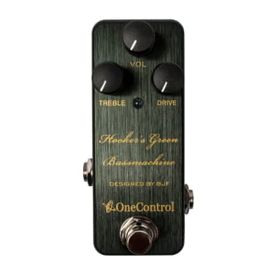 One Control Hooker's Green Bassmachine overdrive pedal for sale