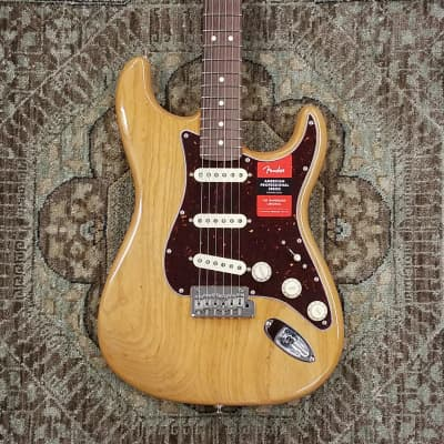 2019 Fender Limited Edition American Pro Lightweight Ash Strat in Aged Natural w/ Case & Pro Setup for sale
